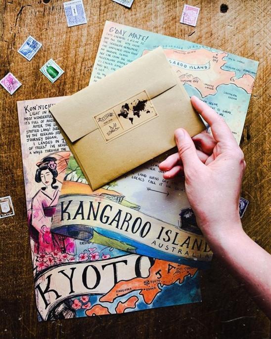 Le plaisir retrouvé d'écrire des lettres sur du papier